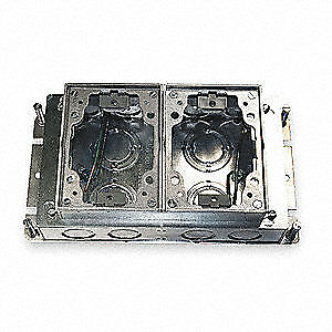 Hubbell Wiring Device kellems Floor Box steel And Aluminum 2 gang Ba2422