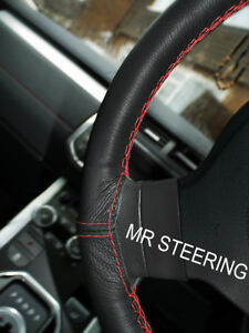 Leather Steering Wheel Cover For Mercedes E Class 2009 16 W212 Red Double Stitch