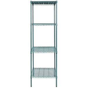 Heavy Duty 24 X 24 X 74 Green Epoxy Wire Walk In Cooler Shelf Rack Commercial