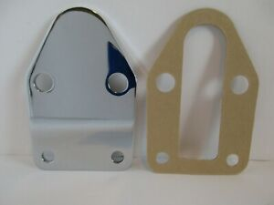 Small Block Chevy Fuel Pump Block Off Plate Chrome Steel Sbc 327 350 383 2057