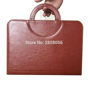 Business Zipper Pu Leather Portfolio A4 Documents Folder Cases Manager Bag Table