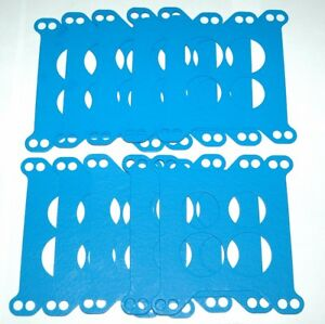 10 Blue Non Stick Edelbrock Carter 4 Barrel Carburetor Base To Intake Gaskets