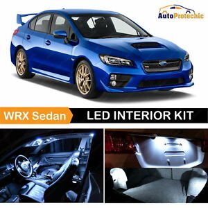 10x Led Cob White Light Interior Package Kit For 2004 2017 Subaru Wrx Sti Tool