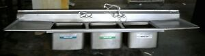 10 10 X 31 Three Compartment Commercial Stainless Steel Sink