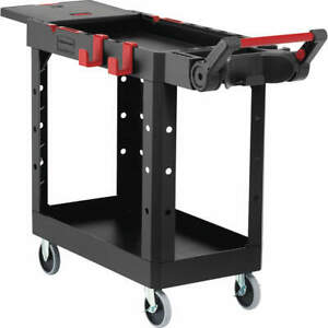 Rubbermaid Utility Cart 500 Lb Load Cap black 1997206