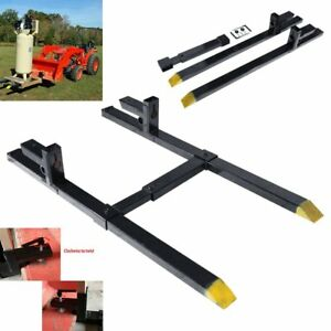 Pro 30 1500lbs Capacity Clamp On Pallet Forks W stabilizer Bar Tractor Chain