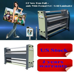 Us Stock Free Shiping 110v 63 High End Full Auto Wide Format Hot Laminator