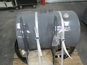 Steel Fuel Tank 75 Gallon Truck Crane Bed Auxiliary Cylinder 26 Dia 36 L