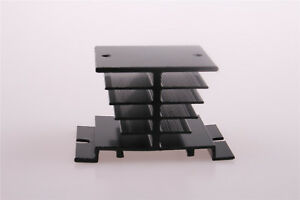 Aluminum Heat Sink Black For Solid State Relay Ssr Heat Dissipation 10a 40a 1pcs
