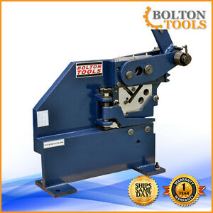 Bolton Tools Manual Ironworker For Cutting And Punching Pbs 7
