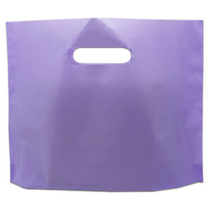 Purple Large Plastic Shopping Bag Reusable Gift Apparel Favor Storage Pack Pouch