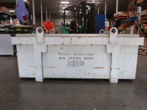 Heavy Duty Steel Storage Shipping Container Crate W Barrel Cylinder Holder