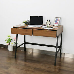 39 Office Home Study Desk Workstation Modern Computer Writing Table W 2 Drawes