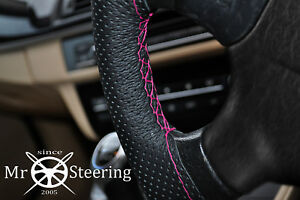 For Mercedes Slk R170 Perforated Leather Steering Wheel Cover Hot Pink Double St