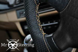 Perforated Leather Steering Wheel Cover For Mercedes W169 05 12 Beige Double Stt