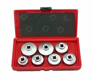 Abn Oil Filter Cap Wrench Metric 7 piece Socket Set Tool Kit 24mm To 38mm For Vw