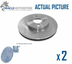 2 X New Blue Print Front Brake Discs Set Braking Discs Pair Oe Quality Adt343156