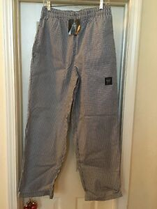 Chef Revival P020ht m Houndstooth Medium Baggy Chef Pants Nwt