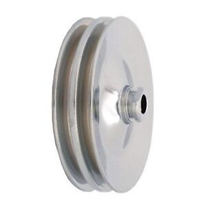 Chrome Power Steering Pump Pulley 2 Groove Chrome Power Steering Pulley New