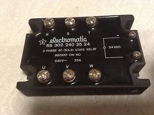 Electromatic Rs3022402524 3 Phase Ac Solid State Relay