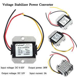 Dc dc 5 32v To 12v 3a Automatic Voltage Stabilizer Power Converter Regulator