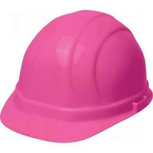 Hard Hat Safety Helmet Erb Omega Ll Safety Caps Rachet Suspension Type 2 Pink