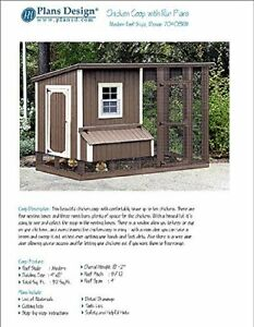 Diy Chicken Coop Hen House 4 Ft X 8 Ft Modern Roof Style Project Plans