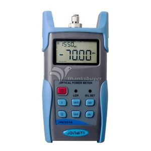 Jw3216 Multifunction Optical Power Meter Tester Fiber Optic Connecting Pc