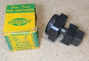 Greenlee No 731 1 Square Punch And Die Set Radio Chassis Punch