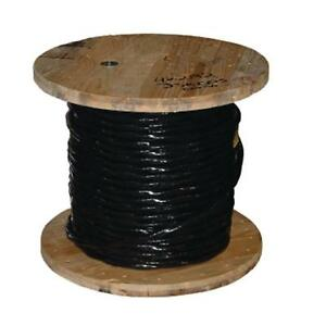 Southwire 4 0 Black Stranded Electrical Al Thhn Cable Indoor Outdoor 500 Ft