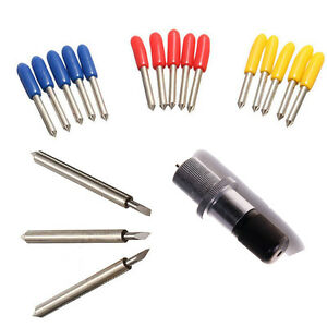 1 Holder 15 Pcs 30 45 60 Mix Degree Blades For Roland Vinyl Cutter Blade Holder