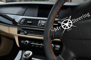 For Mercedes Cls W219 Perforated Leather Steering Wheel Cover Orange Double Stch