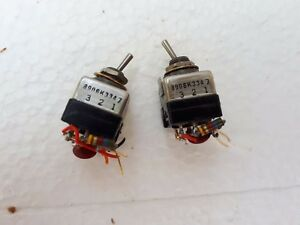 Lot Of 2 Military Toggle Switch 8906k3347