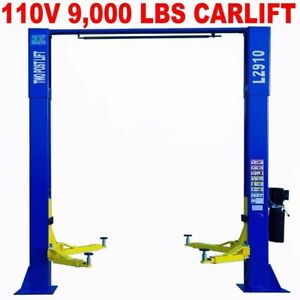 110v 9 000 Lb Over Head L2910 2 Post Lift Car Auto Truck Hoist Great Quality