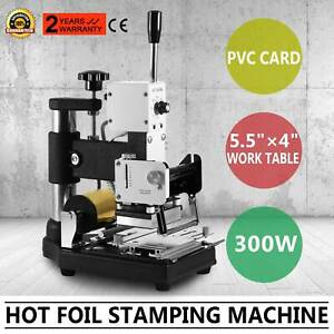 Hot Foil Stamping Machine Manual Stamper Bronzing Pvc Card A Free Foil Paper