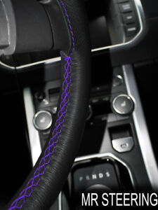 Leather Steering Wheel Cover For Mercedes Actros Truck 07 11 Purple Double Stich