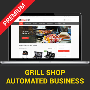 Grill Shop Automated Affiliate Business Website For Sale