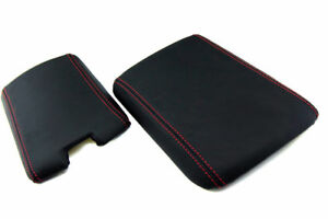 Mazda Rx8 Console Armrest Front Back Vinyl Cover Red Stitch For 04 08