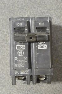 Ge Thqb21100 Thqb 2p 120 240v 100 Amp Bolt In Circuit Breaker Tested