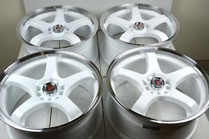 17 White Wheels Rims Fusion Camry Accord Optima Sonata Elantra Tsx 5x100 5x114 3