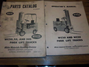 White Mobilift wc20 wc25 fork Lift Truck Repair Part operator maintenance Manual