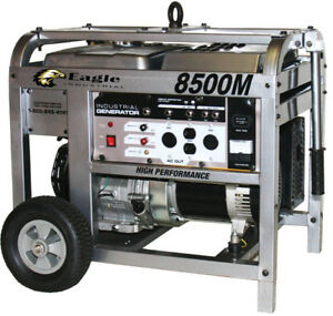 New Eagle Equipment Eg8500m 1ph Generator With 11 Hp Gas Engine 3720 Rpm