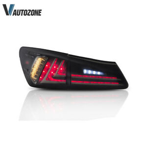 1 Pair Smoked Tail Lamp For Lexus Is250 Is300 Is350 2006 2012 Black Rear Lights