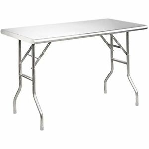 Used Stainless Tables royal Gourmet Stainless Steel Folding Work Table 48 L X 2