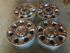 20 Inch Ford F250 F350 Chrome Clad Wheels Rims Forged