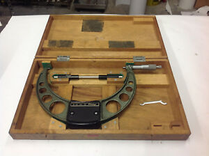 Mitutoyo 103 223 8 9 Outside Micrometer W standard In Box Carbide Tips Used