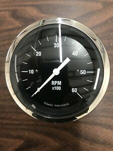 Classic Instruments Hotrod Series Tach Gauge 3 3 8 Hot Rod Street