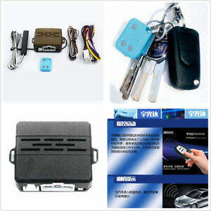 F Car Alarm Safety System Induction Remote Control Engine Start Push Remote Kit