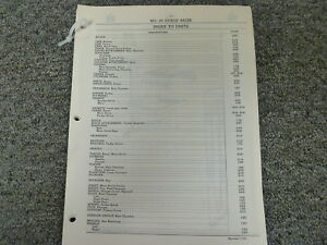 International Harvester Ih No 45 Pickup Baler Parts Catalog Manual Book