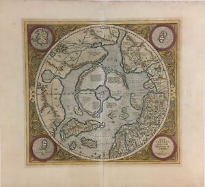 Septentrionalium Terrarum Descriptio Hondius Mercator 1623 Map